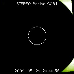 COR1 image involving blank exposures
