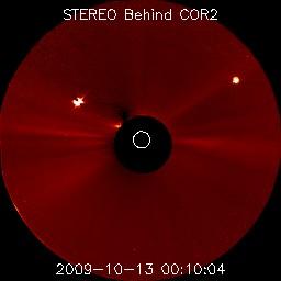 Vénus et Mercure vue par STEREO Derrière COR2
