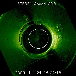 Roll effect on STEREO Ahead COR1
