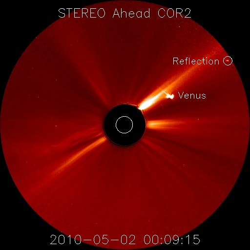 Reflet de Vénus, le 2 mai 2010