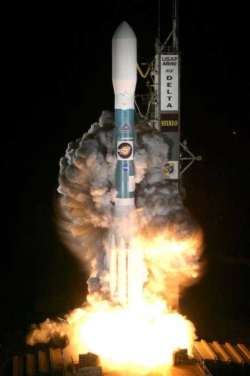 Launch of STEREO aboard Boeing Delta II Rocket from Cape Canaveral